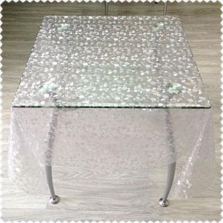 Прозрачная скатерть на стеклянный стол